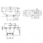 Ванна стальная Kaldewei Saniform plus (373) 170x75x41