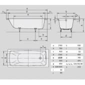 Ванна стальная Kaldewei Cayono (750) 170x75x41