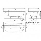 Ванна стальная Kaldewei Saniform plus (361) 150x70x41