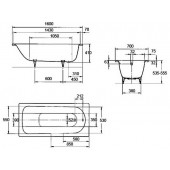 Ванна стальная Kaldewei Saniform plus (362) 160x70x41