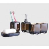 F 301-2 Набор аксессуаров для ванной комнаты (коричневый)