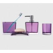 F 302-3 Набор аксессуаров для ванной комнаты (фиолетовый)