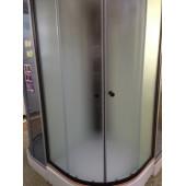 Душевая кабина DN471 100*100*210 с крышей средн. поддон, рамка черная, стёкла БЕЛЫЕ