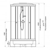 Душевая кабина Тритон Стандарт Узоры В3 100х100х225 средний поддон с сифоном