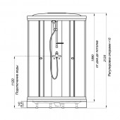 Душевая кабина Тритон Стандарт Полосы А3 90х90х212 низкий поддон с сифоном