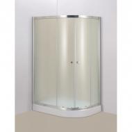 Душевой уголок DN503L120х80х194 низкий поддон 13см Левый стекло матов профиль алюминевый