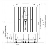 Душевая кабина Тритон Стандарт Полосы Б3 90х90х217 высокий поддон с сифоном
