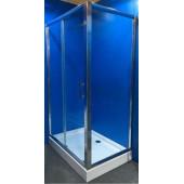 Душевой уголок DN505 120х80х194 низкий поддон 13см стекло 5мм профиль хром