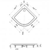 Душевой уголок Тритон Классика А1 100х100х195 низкий поддон
