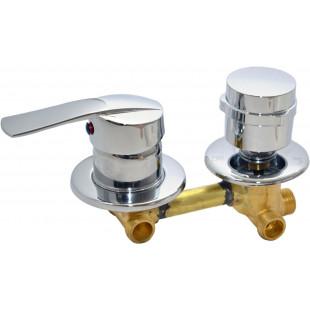 Смеситель 3-х режимный 100мм в сборе для душ кабин (смес. узел)