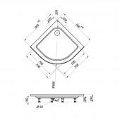 Душевой уголок Тритон Стандарт Мозайка А1 90х90х195 низкий поддон с сифоном
