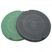 Люк канализационный полимерный 15 кН (1.5т) круглый (758х60 мм)