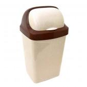 Контейнер д/мусора Ролл Топ 9л беж-мрамор М2465(пластик)