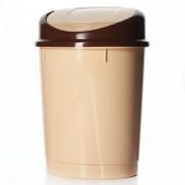 Контейнер д/мусора 8л (овальный)(бежевый) М1550(пластик)