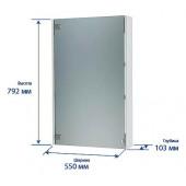 Зеркальный шкаф ЭКО-55 Тритон Салатовый