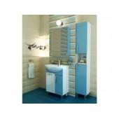 Зеркальный шкаф ЭКО-60 Тритон Голубой