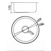 Мойка из нержавеющей стали Ф43 (0,6 мм) FRAP F60430