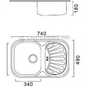 Мойка из нержавеющей стали 49х74 (0,8 мм) FRAP F4974