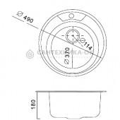 Мойка из нержавеющей стали Ф49 (0,8 мм) FRAP F490