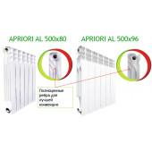 Радиатор алюминиевый Apriori Al 500/80 (10 секций) (1750Вт)