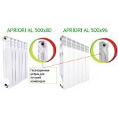 Радиатор алюминиевый Apriori Al 500/96 (8 секций) (1520Вт)