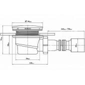 Сифон для поддона D90мм арт. DK-01-08 (E320VAL) без гофры тритон
