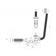 Обвязка на ванну ЕС255 полуавтомат клик-клак регулир. 11/4 Ф40*50 АниПласт
