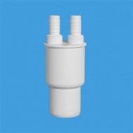 """Адаптер WFH-CON4050 для подключения слива с 2-мя прямыми отводами (14мм/ 1/2""""); выход 50/40мм"""