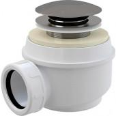 Сифон для душ.поддона 1 1/2**50/60 хром, клик-клак без гофры (Е410СL) тритон