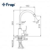 F40501 Смеситель для кухни высокий излив картридж ф25 FRAP 40501