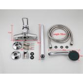 F22703-В Смеситель для ванны с душем картридж 40мм L-нос 30см FRAP 22703