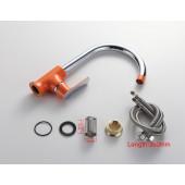 F4032 Смеситель для кухни высокий излив картридж Ф40 FRAP 4032 Оранжевый