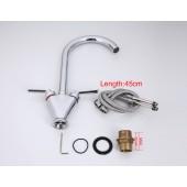 F4098 Смеситель на кухню 2-х вентильный высокий излив FRAP 4098