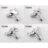 F3256 Смеситель для ванны с душем картридж 40мм короткий излив FRAP 3256