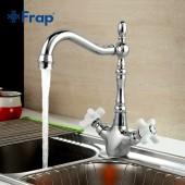 F4018 Смеситель для кухни 2-х вентильный крепение гайка стиль ретро FRAP 4018