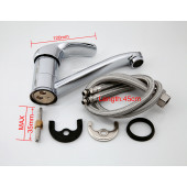 F4536 Смеситель для раковины поворотный гусак 15см, картридж Ф35 FRAP 4536