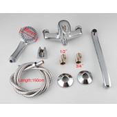 F2213-1 Смеситель для ванны с душем картридж 35мм S-нос 40см FRAP 2213-1 (матовый)