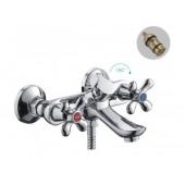 F32731-В Смеситель для ванны с душем 2-х вентильный короткий излив FRAP 32731