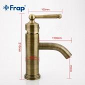 F1052-11 Смеситель для умывальника картридж 40мм FRAP 1052-11 античная бронза