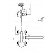 BA5333-4-B723-C018 Смеситель для ванны из Латуни