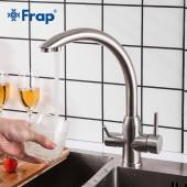 F43899 Смеситель для кухни с подключением фильтра питьевой воды из нержавеющей стали FRAP 43899