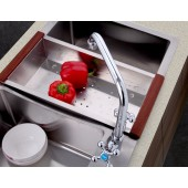 F4019 Смеситель на кухню 2-х вентильный высокий излив для моек с 2-мя чашами FRAP 4019
