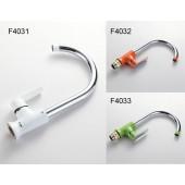 F4033 Смеситель для кухни высокий излив картридж Ф40 FRAP 4033 Зеленый