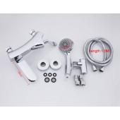 F3081 Смеситель для ванны с душем картридж 35мм короткий поворотный излив FRAP 3081