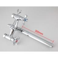 F2293 Смеситель для ванны 2-х вентильный с верхним картриджным переключением на душ L-нос FRAP 2293