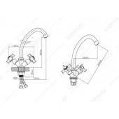 BA5333-8F-B723 Смеситель для кухни из Латуни