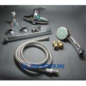 F2113 Смеситель для ванны с душем отдельный дивертор картридж 35мм L-нос 30см FRAP 2113
