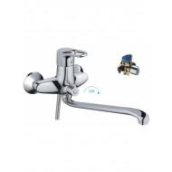 F2250 Смеситель для ванны с душем картридж 40мм S-нос 35см FRAP 2250