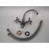 F4119-2 Смеситель для кухни 2-х вентильный усиленный корпус FRAP 4119