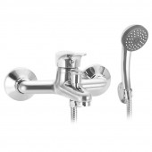 SL86-009 Смеситель для ванны коротким литым изливом Картридж 35мм Переключение на душ: штоковое (РМС)